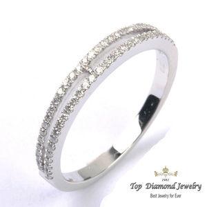 0.24ct 14k WG Diamond Eternity Wedding Ring SZ 5 7